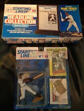 2 Different Frank Thomas Starting Lineup Figures 1993 Headline and Regular SLU