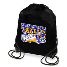 Personalized Cheerleading With Megaphone And Pom-Poms Drawstring Backpack