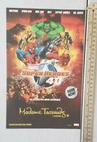 Marvel Superheroes 4d Madame Tussauds RARE Print Advertisement