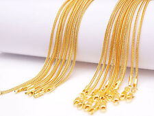"5Pcs 20"" Jewelry 18K Yellow Gold Filled ""Fox Tail"" Necklaces Chain Lobster Clasp"