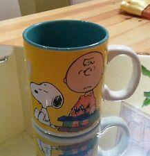 Snoopy Charlie Brown Monday Tasse Kaffeetasse Kaffeebecher Mug Becher / Neu gelb