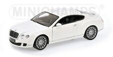 MINICHAMPS 100 139621 BENTLEY CONTINENTAL GT diecast model car white 2008 1:18th