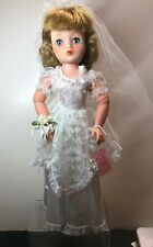 "16"" Vintage Horsman Cindy Bride Wedding Replaced Shoes All Original Blonde"