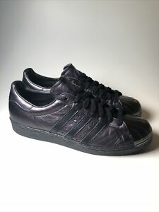 Mi ADIDAS NEW Metal-Toe Black/Metallic Purple Superstar Shoes Mens Size 10.5 M