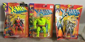 Lot of 3 1993/1994 Marvel X-Men Figures Corsair Ch'od Storm Damaged Boxes