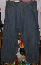 MENS JEANS EVISU GENES JEANS 38X31 BAGGY JEANS BUTTON FLY GREAT BUY
