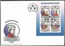 BURUNDI 2013 WOLFGANG AMADEUS MOZART  SHEET FIRST DAY COVER