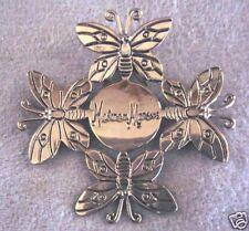 Neiman Marcus InCircle Emilia Castillo Silver Plate Butterfly Gift Ornament Clip