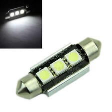 DC 12V 39MM 3 5050 Canbus Error Free Festoon Dome LED Light White Roof Bulb NEW