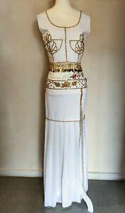 Orientalisches Kleid Bauchtanz Hochzeit Tanz weiß 4-teilig M 38 40