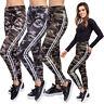 Femmes Militaire Rayure Décontracté Leggings Taille Haute Camouflage Armée Pants