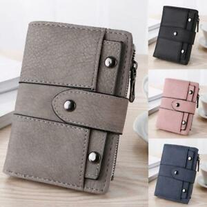 Women Ladies Small Leather Bifold Wallet ID Card Holder Purse Clutch Handbag US