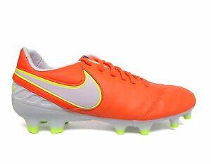 Nike Women's TIEMPO LEGACY II FG Soccer Cleat Tart/White/Orange 819255-817 b