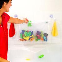 Baby Child Kid Bath Toy Bag Net Storage Bathroom Suction Organizer Two Pockets