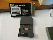 Kraco Stereo Cassette Adaptor For 8-Track Tape Players with Original Box