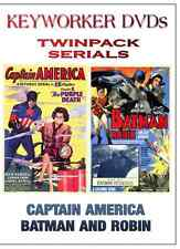 Classic Cliffhanger Serials - CAPTAIN AMERICA and BATMAN AND ROBIN - Twin Pack