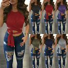 Women Ladies Casual Tank Tops Vest Blouse Sleeveless Crop Tops T Shirt New