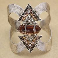 Western Cowgirl Vintage Silver Arrow Gemstone Zuni Navajo Bracelet Bangle Cuff