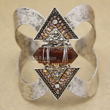 Western Cowgirl Vintage Silver Arrow Gemstone Zuni Navajo Bracelet Bangle Cuff