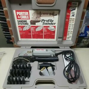 Porter Cable No. 444 Profile Sander With Profile Attachments, Accessories & Case