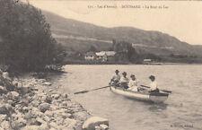 LAC D'ANNECY 171 DOUSSARD le bout du lac barque timbrée 1918