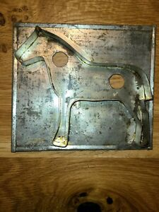 ANTIQUE PRIMITIVE  VINTAGE HORSE SHAPED COOKIE CUTTER