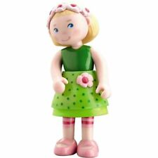 "HABA Little Friends Mali - 4"" Bendy Girl Doll Figure with Blonde Hair & Headband"