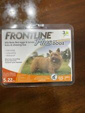 FRONTLINE PLUS FLEA AND TICK CONTROL FOR DOGS 5-22 LB 3 MONTH SUPPLY - NEW LOOK