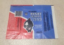 1989 Scanlens Rugby League - Wax Pack Wrapper