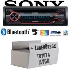Sony Autoradio für Toyota Aygo Bluetooth CD MP3 USB Auto Einbauset
