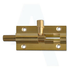 Asec AS3355 Brass 25mm Straight Barrel Bolt 152mm Long For Securing a Door/Gate