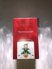 Nib 2020 Hallmark Keepsake Ornament Ten Lords A Leaping - Twelve Days Series