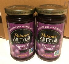 (2) Two Polaner All Fruit Concord Grape Jelly Spreadable Fruit