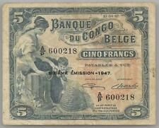 Belgian Congo  5 francs 10-04-1947