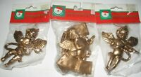 Kurt S Adler Lot of 3 Angel Cherub with Musical Instrument Christmas Ornament