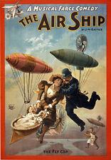 TZ8 Vintage Musical 'Air Ship' Theatre Poster A1 A2 A3