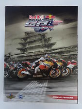 2012 Red Bull Indianapolis Moto GP Race Program MotoGP Moto2 Moto3 Dani Pedrosa