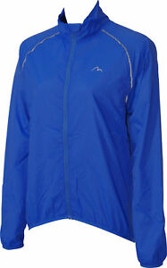 More Mile Wind Womens Running Cycling Rain Jacket Lightweight Packable Blue