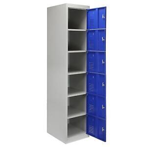 Metal Lockers Steel Staff Storage  Locker Office Furniture School Gym Blue