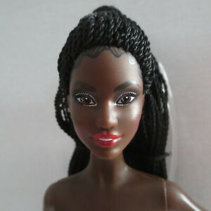 NEW! Barbie Holiday 2021 Doll AA June Face Black Braided Hair ~ Model Muse Nude