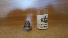 "Magnetic OIL Sump Plug 1/4"" BSP #416 stainless steel"