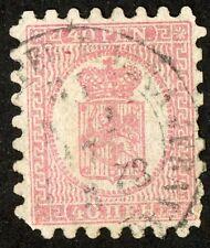 1866 00004000 -74 Finland Stamp #10 d, 40p rose, lil rose, serpentine I, Used H