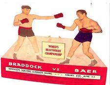 "MAX BAER vs JAMES J. BRADDOCK  11""X14""  BOXING POSTER - PRO BOXING"