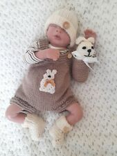More details for beautiful hand knitted romper set for 16/17inch reborn baby/premmie 🐇🐇