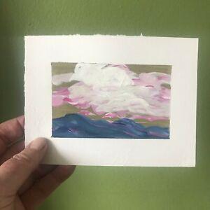 "6x4.5"" Sally J Goodrich Landscape Painting Blue Ridge Mountains Gallery Art"