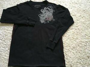 Men's Fox Deluxe Jersey Shirt Fox Racing Medium Long Sleeve Shirt - Black
