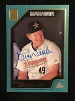 LARRY DIERKER 2000 TOPPS AUTOGRAPHED SIGNED AUTO BASEBALL CARD 338 ASTROS
