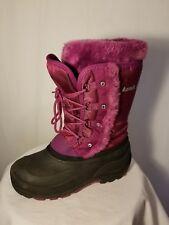 Girls KAMIK purple magenta winter boot sz 5