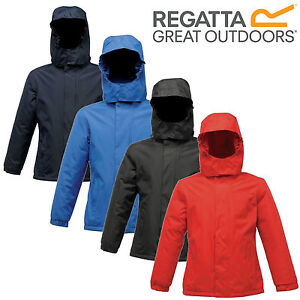 Regatta Kids Boys Girls Waterproof Fleece Lined School Jacket Hooded Coat