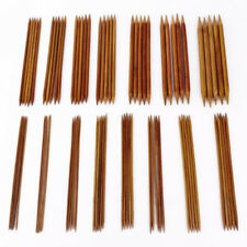 75pcs Set Bambù doppia punta da MAGLI FERRI 20cm/20.3cm long2.0-10.0mm 15sizes